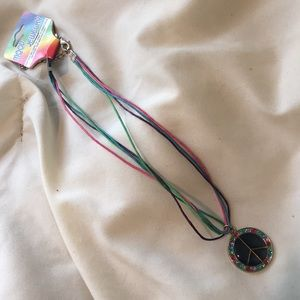 Jewelry - Kids Peace Sign Mood Necklace